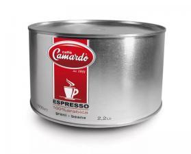 Зерновой кофе Camardo Espresso 100% Арабика (металлическая банка, 1 кг)