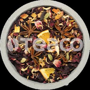 Чай Глинтвейн с гибискусом и  пряностями. 100 гр.