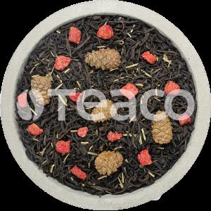 Чай Клубника с розмарином и  шишками. 100 гр.