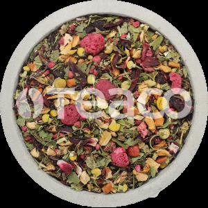 Чай Малина с мятой и  гибискусом. 100 гр.