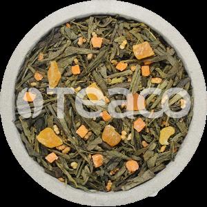 Чай Манго с генмайчой и  кокосовыми сливками. 100 гр.