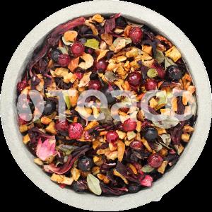Чай Смородина с брусничным  листом, яблоками,  гибискус. 100 гр.