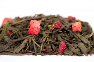 Чай Зеленый Земляника со сливками 100 гр.